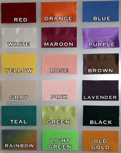 Ribbon Color Charts Hobitfullring